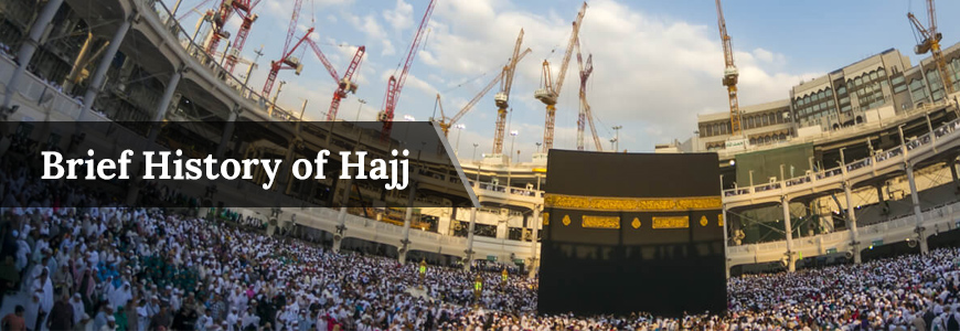 Banner History Of Hajj in islam.